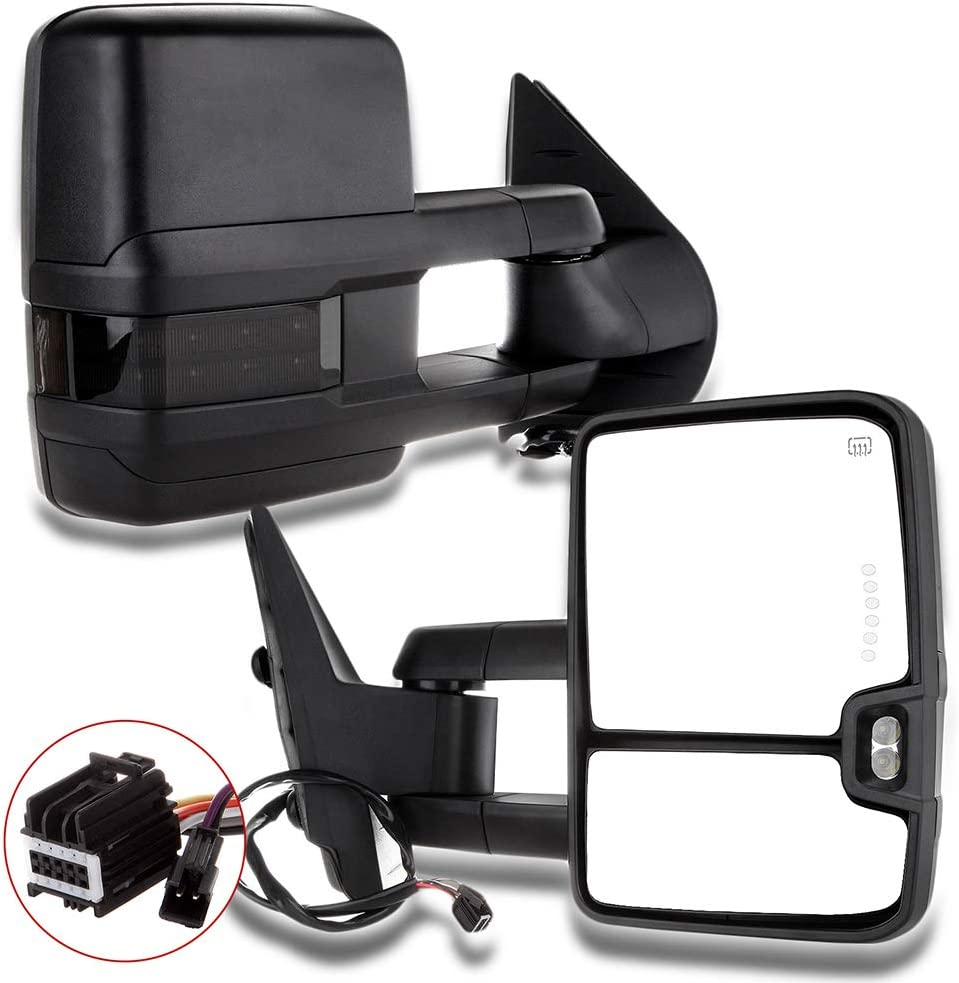 ZENITHIKE Tow Mirrors with Left and low-pricing 2021 model Right Turn Power Heated Side
