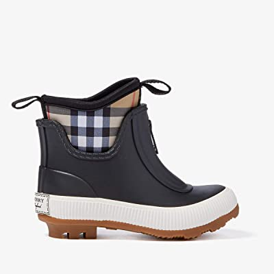 Burberry Kids Flinton Boot (Toddler) (Black) Kid