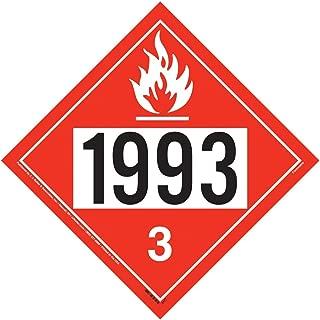 1993 Placard, Class 3 Flammable Liquid 25-pk. - 10.75