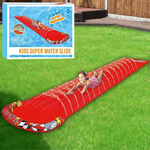 Fineway.® New Childrens Kids Soak N Splash Aqua Garden Water Slide Spray Sprinker Pool Toy-Size: 500cm (L) X 90cm (W)