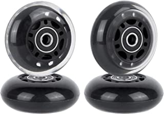 AOWESM 64mm Inline Skate Wheels 85A Roller Blade Skates Replacement Wheel with Bearings ABEC-9 for Beginners Kids Toddles Boys and Girls 8-Pack