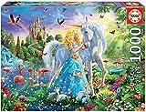 Educa-La Princesa y El Unicornio Puzle, 1 000 Piezas, Multicolor (17654)