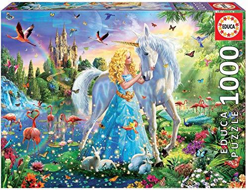 Educa - La Princesa y el Unicornio Puzle, 1 000 Piezas, Multicolor (17654)