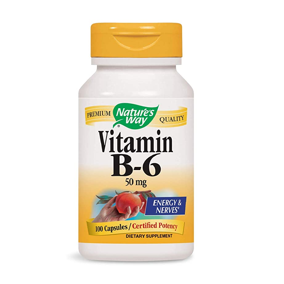捕虜店員信号Nature's Way - ビタミンB6 100 mg。100カプセル