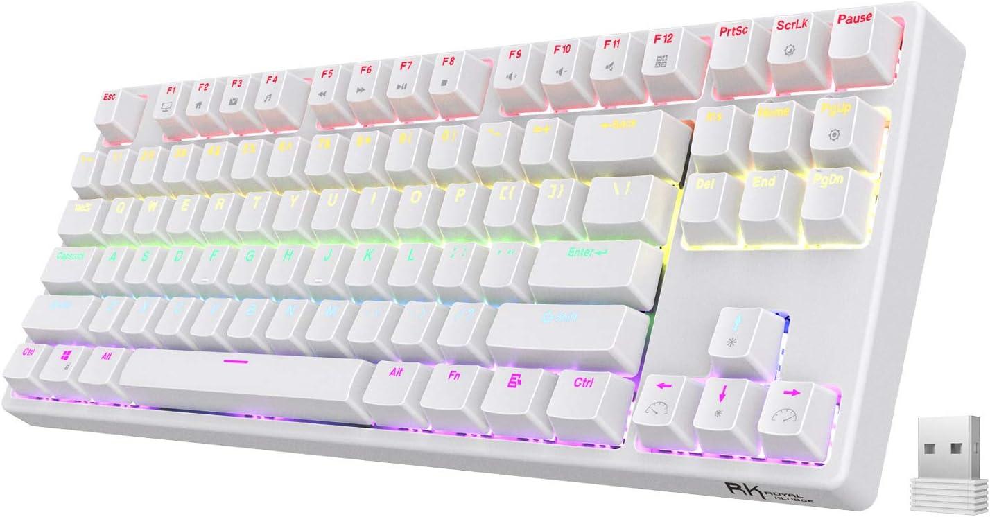 Royal Kludge Sink87G RGB White TKL Mechanical Keyboard