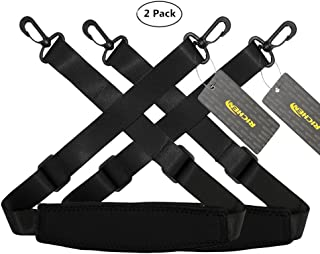 RICHEN Replacement Shoulder Strap Adjustable Luggage/Laptop/Camera Bag Strap with Swivel Hook,Pack of 2,Black