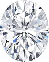 Charles & Colvard Forever One Colorless 6x4mm Oval Brilliant Cut Moissanite Gemstone, 0.50ct DEW