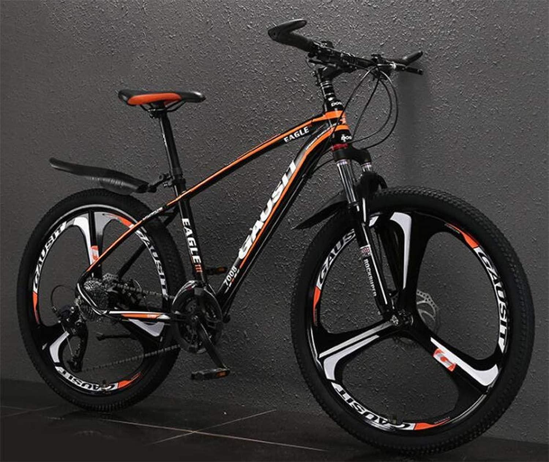 マウンテンバイク、26インチホイールシティロード自転車メンズMTBユニセックススポーツレジャーアウトドア (Color : 黒 オレンジ, Size : 30 speed)