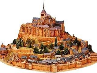 dilib ペーパークラフト 建築物 モンサンミッシェル 世界遺産 ペーパハウス 工作キット 手作りキット おもちゃ 工作セット 立体 アート 手作りセット レプリカ (35cm)