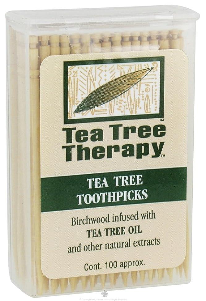 Tea Tree Therapy Toothpicks Mint - 100 Toothpicks