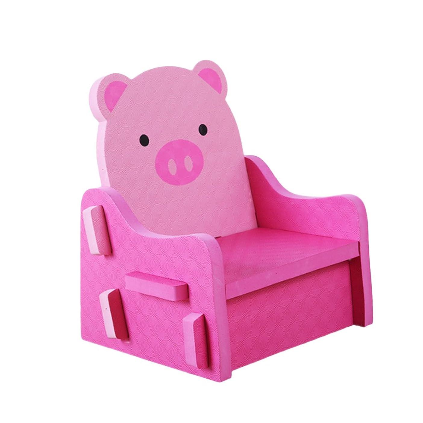 早く検索解明する非毒性 PEフォーム 子供 DIY 組み立て 椅子 チェア 全3色 - ピンク