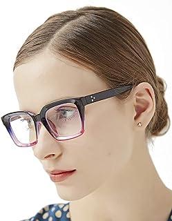 Reading Glasses Blue Light Blocking - 2 Pack +1.75 Readers Computer Eyeglasses Oversized Oprah Style Spring Hinge for Women Men Anti Glare Filter Lightweight Square Frame