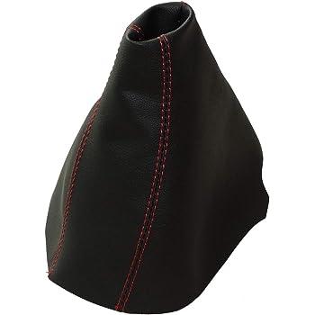 AERZETIX Schaltsack schaltmanschette kunstleder schwarz mit roten n/ähten
