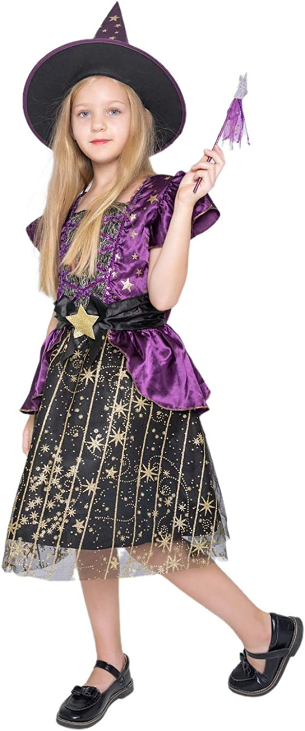 WESPREX Starry Witch Tulsa Mall Costume Set for Magic Wand 2021 autumn and winter new Girls Hat with