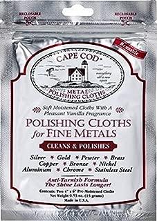 Cape Cod Metal Polishing Cloths Package of 2