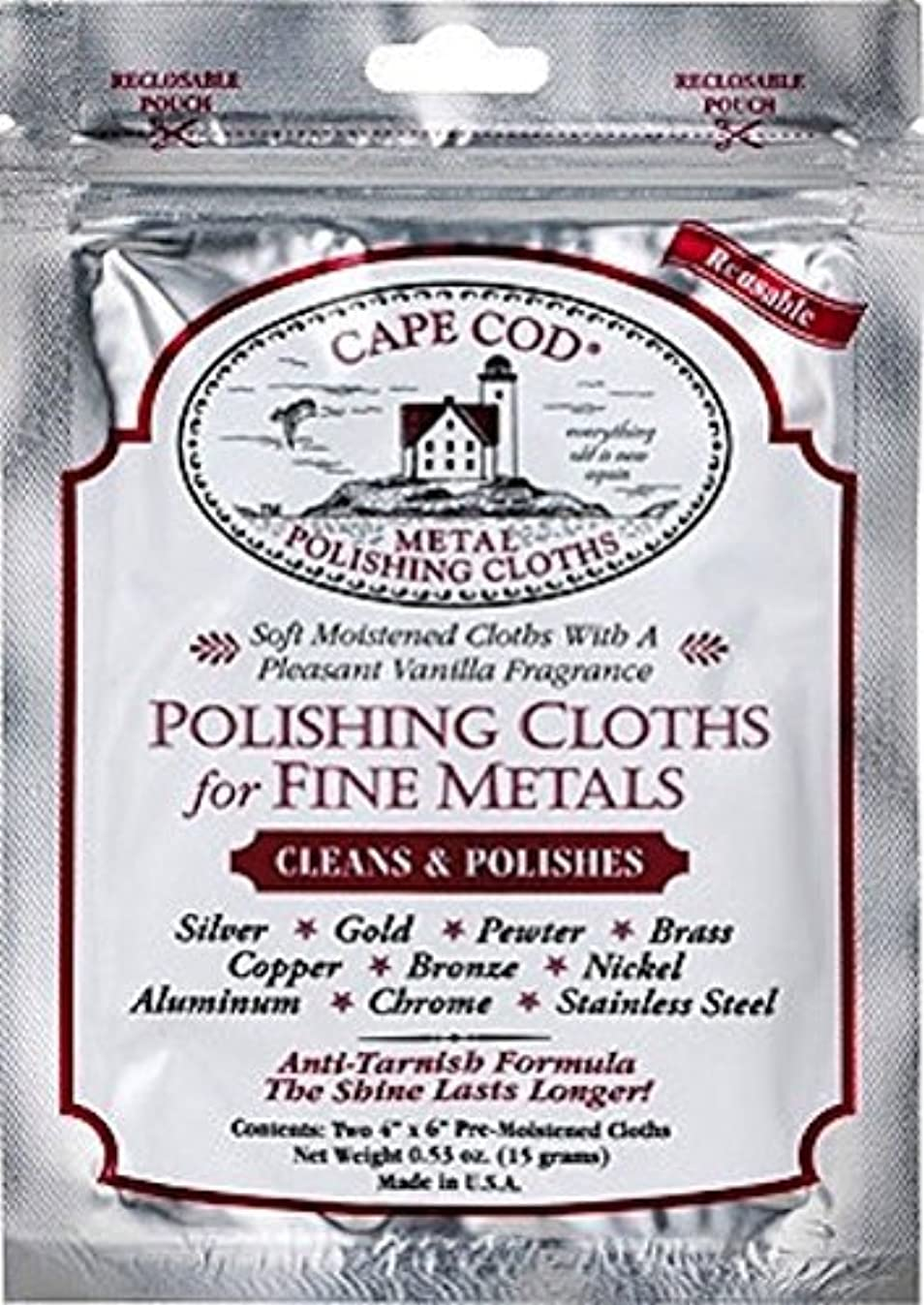Cape Cod Metal Polishing Cloths Package of 2
