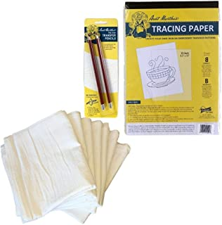Create Your Own Iron-On Transfer Pencil Pattern Kit with 7 White Cotton 28x28 Inch Kitchen Towels for Embroidery - 50 Shee...