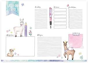 Design von Katz /& Tinte Tischkalender Wochentage Schreibtischunterlage Notizen 30 Blatt hochwertiges Papier ohne festes Datum Wochenplaner zum Abrei/ßen DIN A3