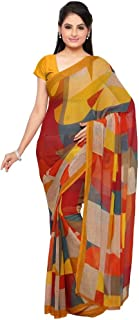 Vaamsi Women's Polyester Georgette Printed Saree