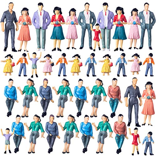Polai 40 Piezas 1:25 Escala Personas Maqueta Personas
