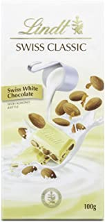 Lindt Swiss Classic White Almond Noughat Chocolate, 100 gm