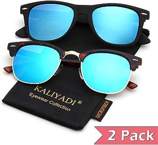 aef093949cc Mens Polarized Sunglasses for Women Semi Rimless Frame Driving Sun glasses:100%  UV Blocking