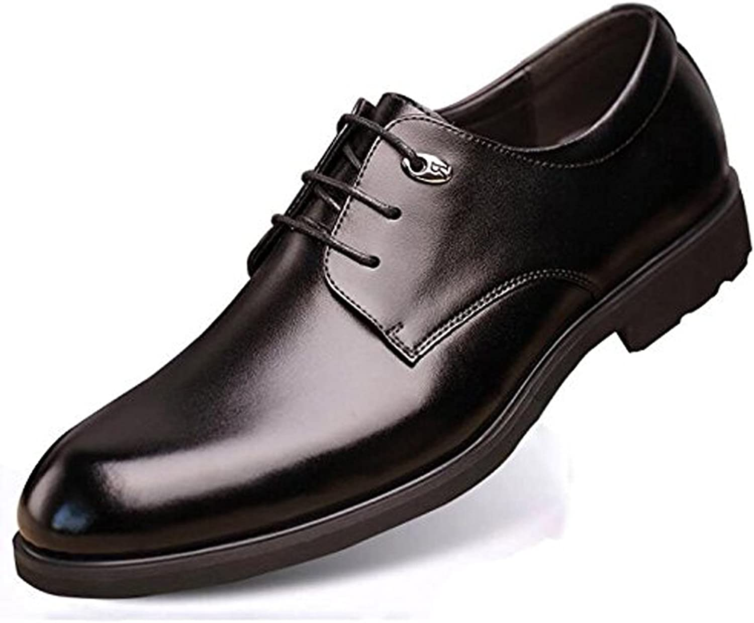 Summer Men's Leather shoes Business British Casual Breathable Dress Round Head shoes