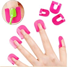 Lucktao 26Pcs/Pack Nail Protector Nail Polish Tips Form Pro Uv Gel Plastic Nail Gel Forms Nail Art