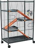 Zolux Cage pour Chinchilla/Furet Orange 72 x 43 x 107 cm