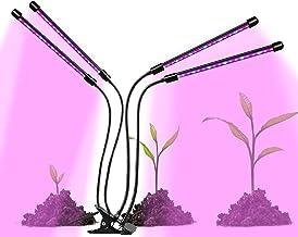 80w Indoor Grow Valot kasveille, Full Spectrum Led Kasvi valot säädettävä Gooseneck Kasvi valo sisäkasveille