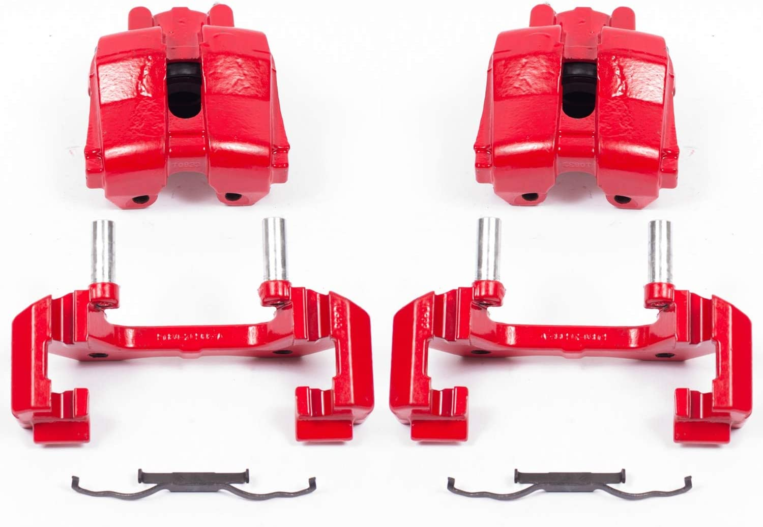 Max 90% Luxury OFF Power Stop S5276 Red Powder-Coated Caliper Performance