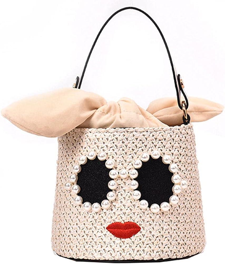 Cute Pearl Straw Handbag Tote Be Quantity limited Bucket Bag Summer Cheap bargain Bohemia