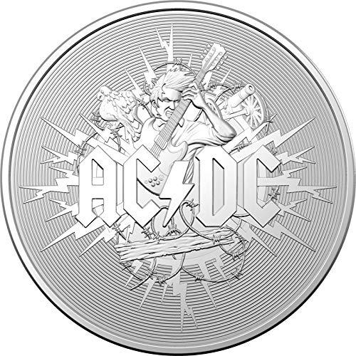Power Coin ACDC 1 Oz Moneda Plata 1$ Australia 2021