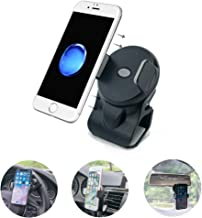 micagos Cell Phone Holder for Car, 3-in-1 Car Phone Mounts, Air Vent Holder Steering Wheel Holder Rearview Mirror Mounting in Vehicle for Universal Smartphones & GPS-Black