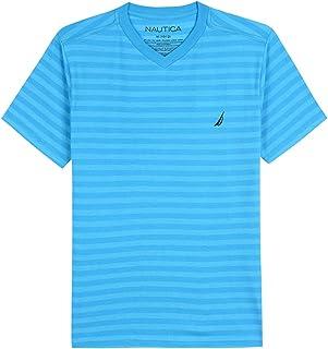 Nautica Boys' Short Sleeve Striped V-Neck T-Shirt