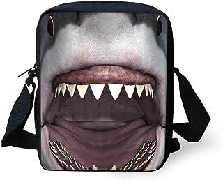 Unisex Cross-Body Lunarable Fish Messenger Bag Underwater Animals Swimming