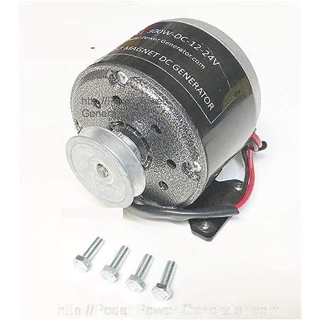 "300 Watt Bicycle Generator 3/8"" Belt Drive Pedal Power Pulley Dynamo"