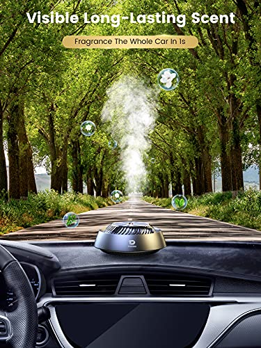 【Long Lasting Fragrant】 Car Air Fresheners,【Relieve Stress&Keep Alert】 Car Essential Oil Diffuser with 3 Natural Essential Oils(Cologne, Floral, Marine),【Gift Choice】for Family Vehicle Vacation