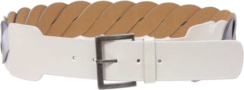 2 1 2  (60 mm) High Waist Metallic Braided Woven Belt