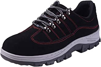 KESEELY Work Shoes for Men Steel Toe Trainers Safety Work Shoes Casual Breathable Sneakers Running Shoe