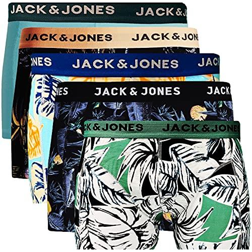 JACK & JONES Trunks 5er Pack Boxershorts Boxer Short Unterhose Mehrpack (L, 5er Pack Bunt 30)