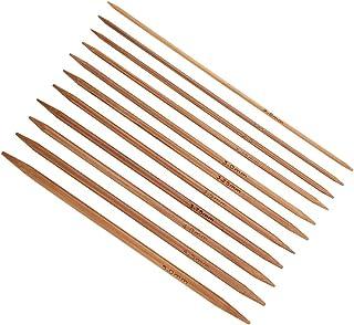 Akozon - Agujas de tejer de doble punta (55 unidades, 11 tamaños, 2 - 5 mm)