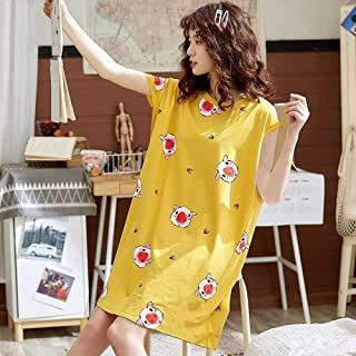 Conjunto De Pijama,Yeow Cabeza De Cerdo Nightgown Feae Hort Eeve Freh Nightdre Tudent Ooe Ik Ik Hoe Ervice Eep Top Night Gown,