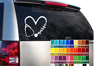 Stethoscope Nurse With Heart Car Decal, DIY Car - laptop - Locker Sticker, #RN DIY Tumbler Adhesive