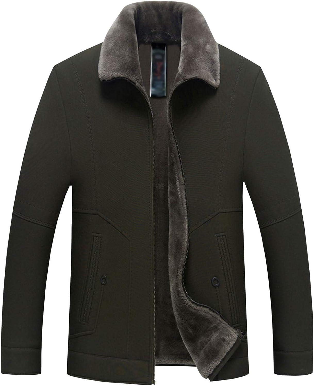Gihuo Men's Winter Warm Fleece Lined Sherpa Zip Jacket