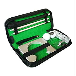 Classic Mini Golf Tranning Aids Indoor Golf Ball Holder Golf Putter Putting Exercise Kit Golf Training Set Aids With Case