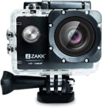 ZAKK RUSH 1080p Ultra HD Waterproof Action Camera with 2-inch LCD Screen 20MP 30m Camcorder