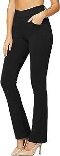 Premium Women's Stretch Dress Pants with Pockets - Wear...