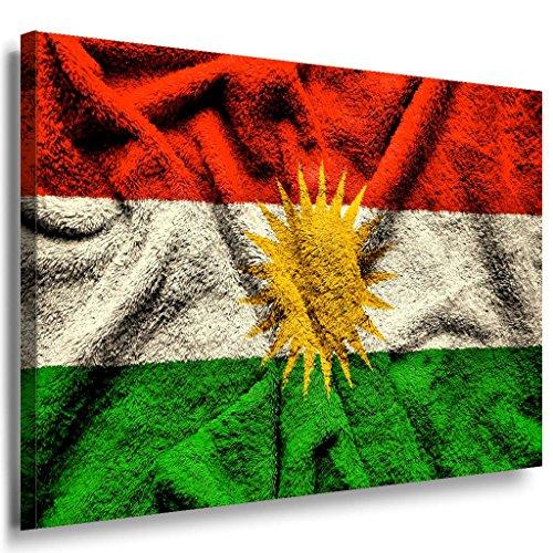 Flagge Kurdistan Leinwandbild / LaraArt Bilder / Leinwand Bild + Mehrfarbig + Kunstdruck fl39-2 Wandbild 60 x 40 cm