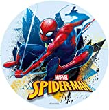 Dekora- Disco Comestible para Decoración de Tartas de Cumpleaños de Spiderman-16 cm (231362)